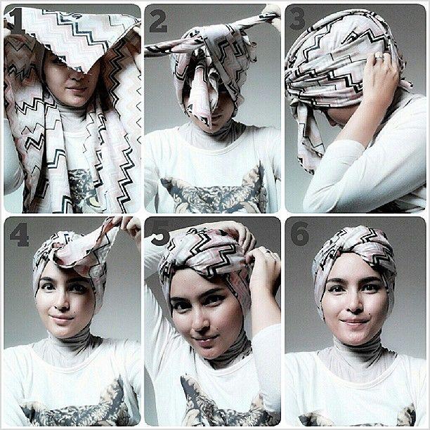 لف الحجاب على الطريقة التركية