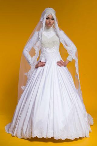 d0af11967 فساتين زفاف تركية للمحجبات 2016 - صفحة