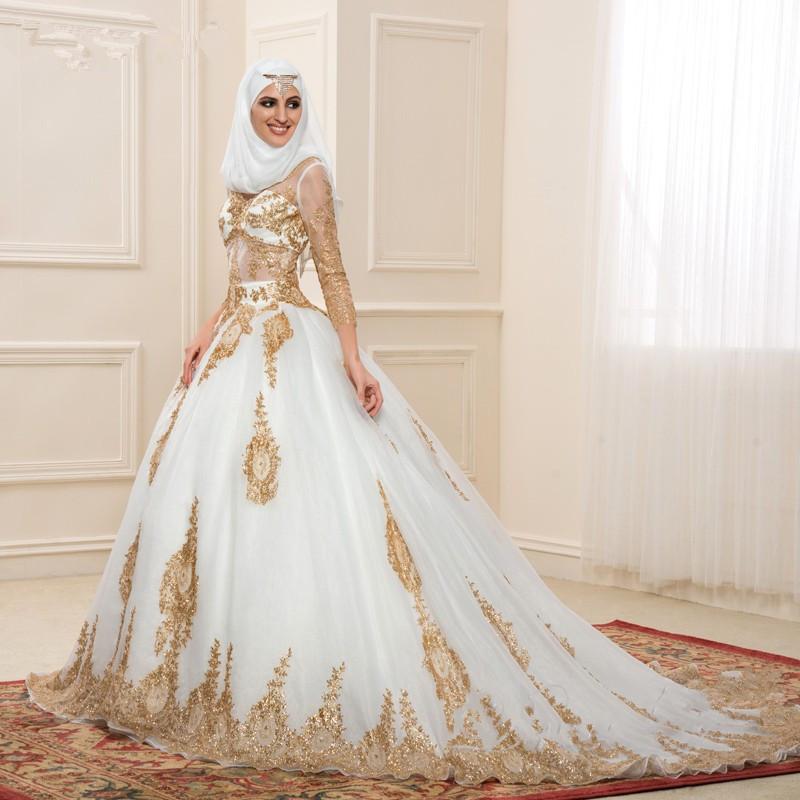 cd4dee1f6 فساتين زفاف تركية للمحجبات 2016 - صفحة