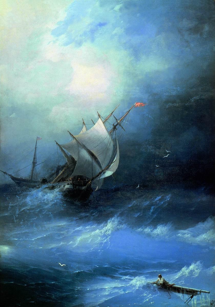 قصة الرجل المؤمن وزوجتة والبحر العاصف
