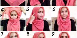 طريقة لف الحجاب