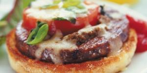 البرجر بخلطة البيتزا