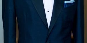 أحدث بدل زفاف زرقاء