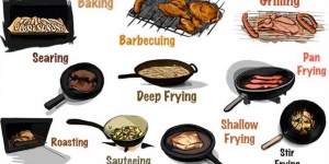 طرق الطهى باللغة الانجليزية