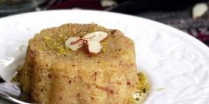 حلوى السميد باللوز والهيل الهندية