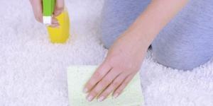 كيفية تحضير منظف منزلى لبقع السجاد