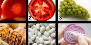 التشابه بين اعضاء الجسم وانواع الخضار والفاكهة