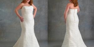 احدث فساتين زفاف للعرائس البدينات