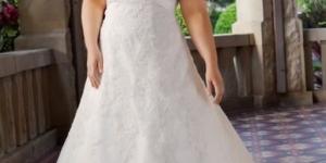 فساتين زفاف للعروسة البدينة 2016