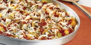 طريقة عمل مكرونة البيتزا