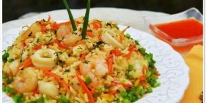 طريقة عمل الأرز البسمتى مع مأكولات بحرية