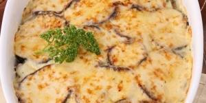 صينية الباذنجان بالكريمة والجبن