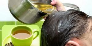 وصفات الشاى الاخضر للعناية بالشعر