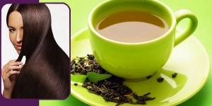 الشاى الاخضر وفوائده للشعر
