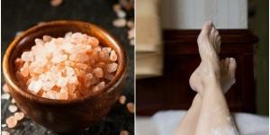 كيفية استخدام الملح فى علاج الالام القدمين