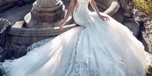 فساتين زفاف ذيل طويل